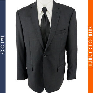 JOS A BANK 42L Gray Slim Fit 2 Button Wool Blazer